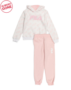 Big Girls 2pc All Over Print Jogger Set