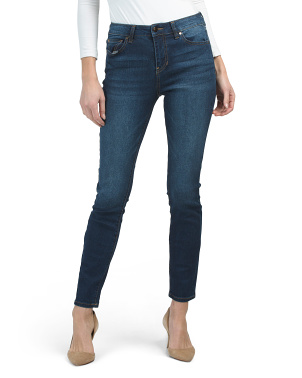 High Waist Recycled Denim Skinny Jeans