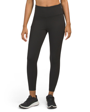 High Waist Tummy Control Ankle Leggings With Pockets
