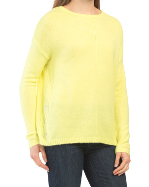 Side Grommet Detail Pullover Sweater