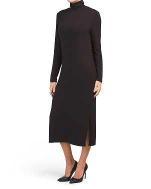 Long Sleeve Turtleneck Interlock Dress