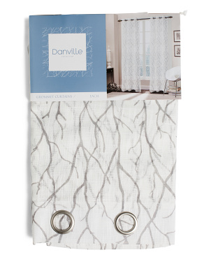38x84 Set Of 2 Cliffside Printed Semi-sheer Curtains