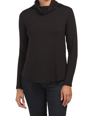 Convertible Mask Cowl Neck Top
