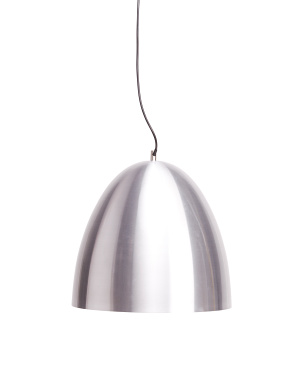 Matte Metal Pendant With Silver Interior