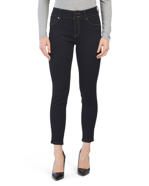 Petite High Waist Recycled 2 Button Skinny Jeans