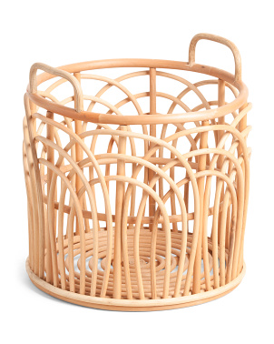 Small Natural Rattan Round Basket