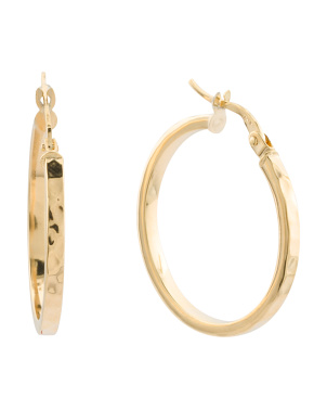 Made In Italy 14k Gold 24mm Hoop Earrings
