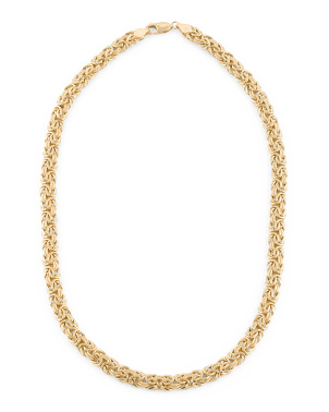 Made In Italy 18k Gold Byzantine Chain Necklace