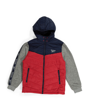 Big Boy Sweater Fleece Mix Jacket