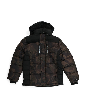 Big Boy Camo Puffer Jacket