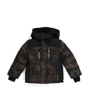 Little Boy Camo Puffer Jacket