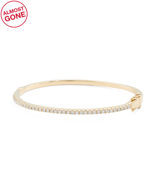 14k Gold Diamond 1.15 T.c.w. Bangle Bracelet