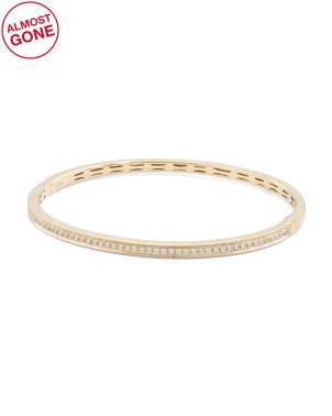 14k Gold Diamond 0.66 Tcw. Bangle Bracelet