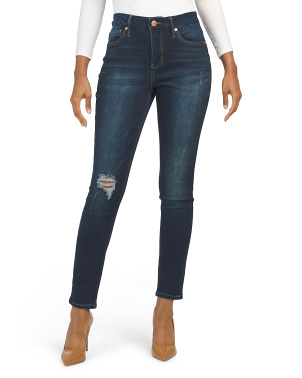 Curvy Fit Solution High Rise Jeans With Destruction