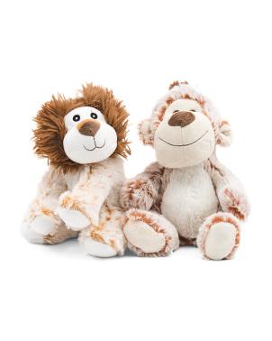 Lion And Monkey Squeaker Toys