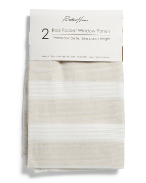 54x96 Set Of 2 Semi Sheer Linen Look Curtains