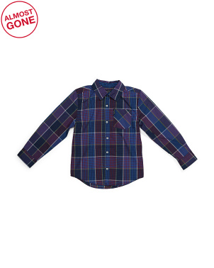Big Boy Long Sleeve Woven Shirt