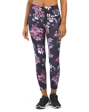 High Waisted Floral Printed Ankle Leggings