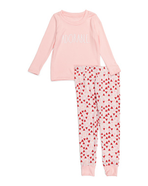 Girls Adorable Hacci Joggers Set