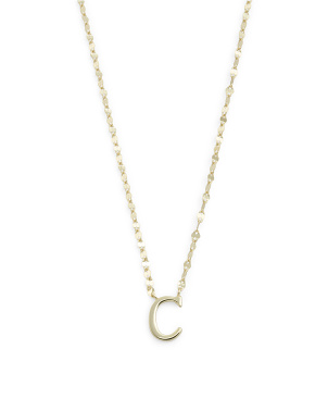 14k Gold Plated Sterling Silver Initial Chain Necklace
