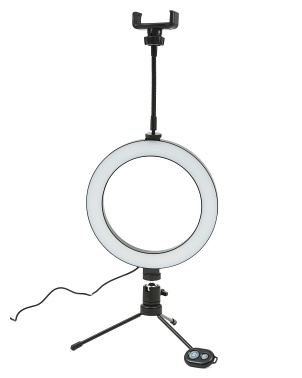8in Ring Light With Bluetooth And Tripod
