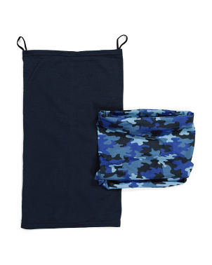Boys 2pk Camouflage Soft Jersey Gaiters