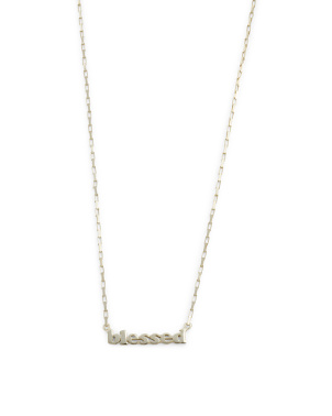14k Gold Plated Sterling Silver Blessed Chain Necklace