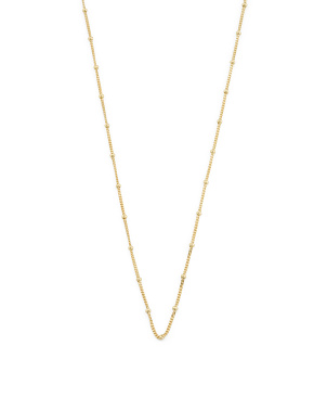 14k Gold Plated Sterling Silver Chain Necklace