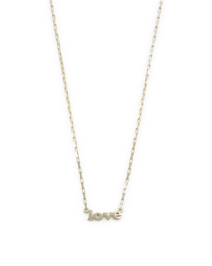 14k Gold Plated Sterling Silver Love Chain Necklace