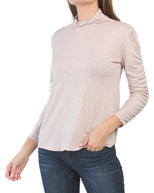 Made In Usa Eloise Cotton Slub Long Sleeve Knit Top
