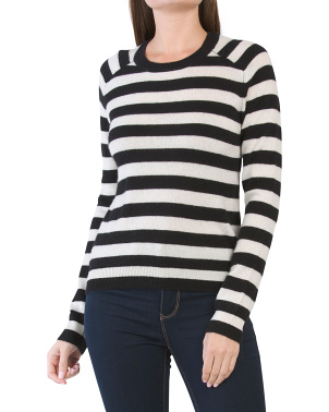 Zuri Striped Cashmere Sweater