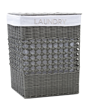 Medium Laundry Embroidery Basket