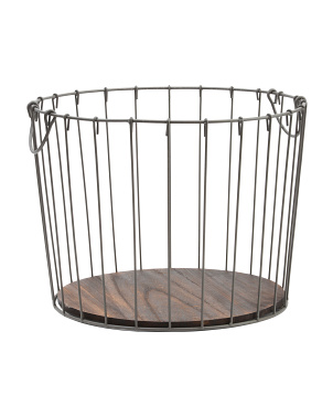 Small Vertical Wire Round Desk Top Basket