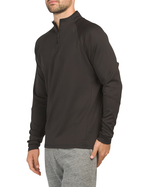 Circular Knit Quarter Zip Top