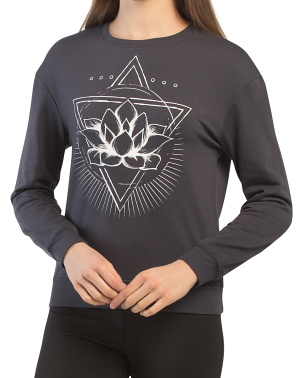 Charcoal Fleece Lotus Triangle Top