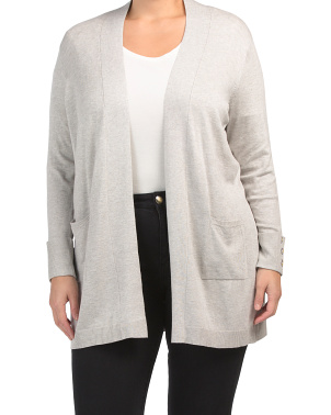 Plus Open Cardigan