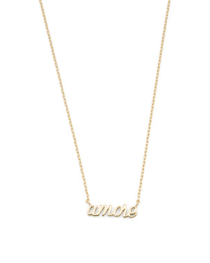 14k Gold Plated Sterling Silver Amore Necklace