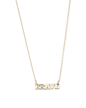 14k Gold Plated Sterling Silver Brave Necklace