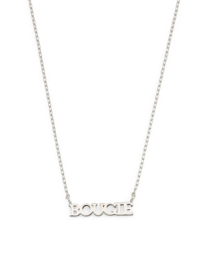 Sterling Silver Bougie Necklace