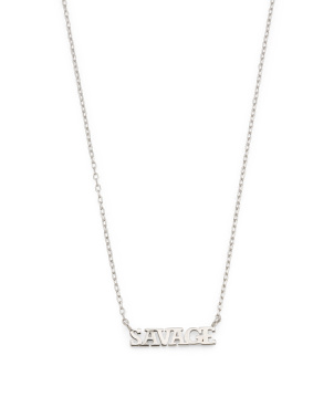 Sterling Silver Savage Necklace