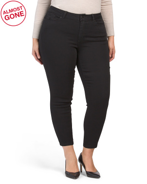 Plus Muffin Top Eliminator Recycled Denim Skinny Jeans
