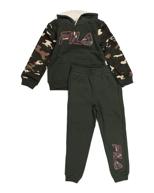 Big Boy Camo Hoodie And Jogger Set