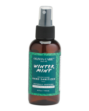 4oz Winter Mint Holiday Sanitizer