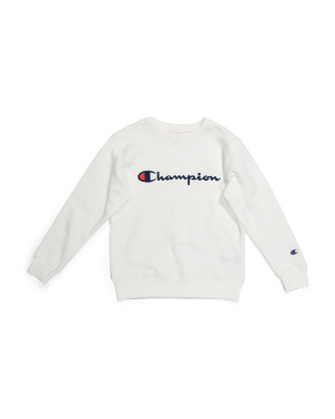 Big Boy Embroidered Fleece Sweatshirt