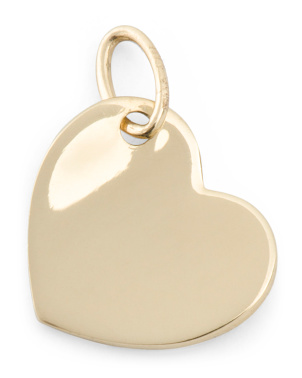 Handmade In Usa 14k Gold Heart Charm
