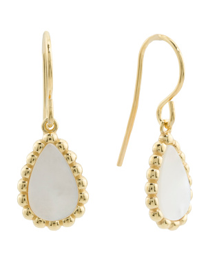 Made In Italy 18k Gold Plated Sterling Silver Drop Earrings