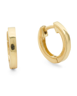 Made In Italy Gold Vermeil Hoop Earrings