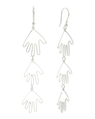 Made In Italy Sterling Silver Hands Earrings