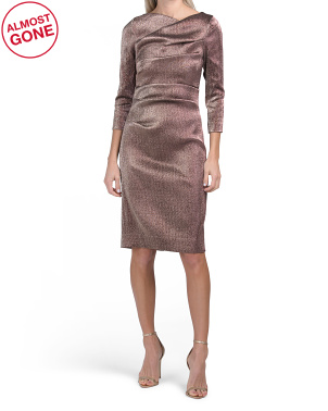 Stretch Metallic Ruched Dress