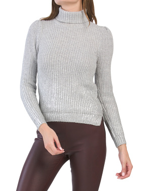 Metallic Accent Sweater
